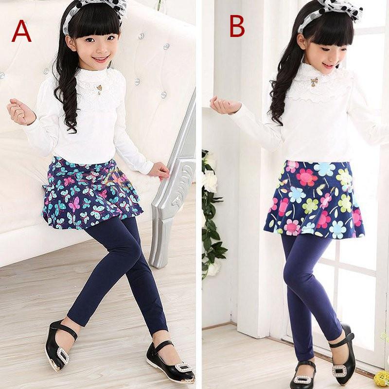 Bayar Di Tempat Celana Legging Panjang Rok Mini Motif Bunga Untuk Pakaian Ramadhan Anak Perempuan Shopee Indonesia