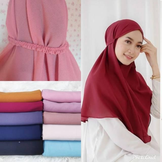 Jilbab Bergo Maryam Karet Shopee Indonesia