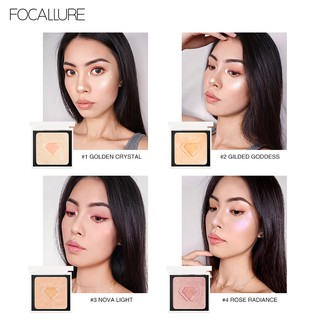FA81 FOCALLURE Highlighter Palette professional shimmer Iluminador Face Contouring Glow kit thumbnail