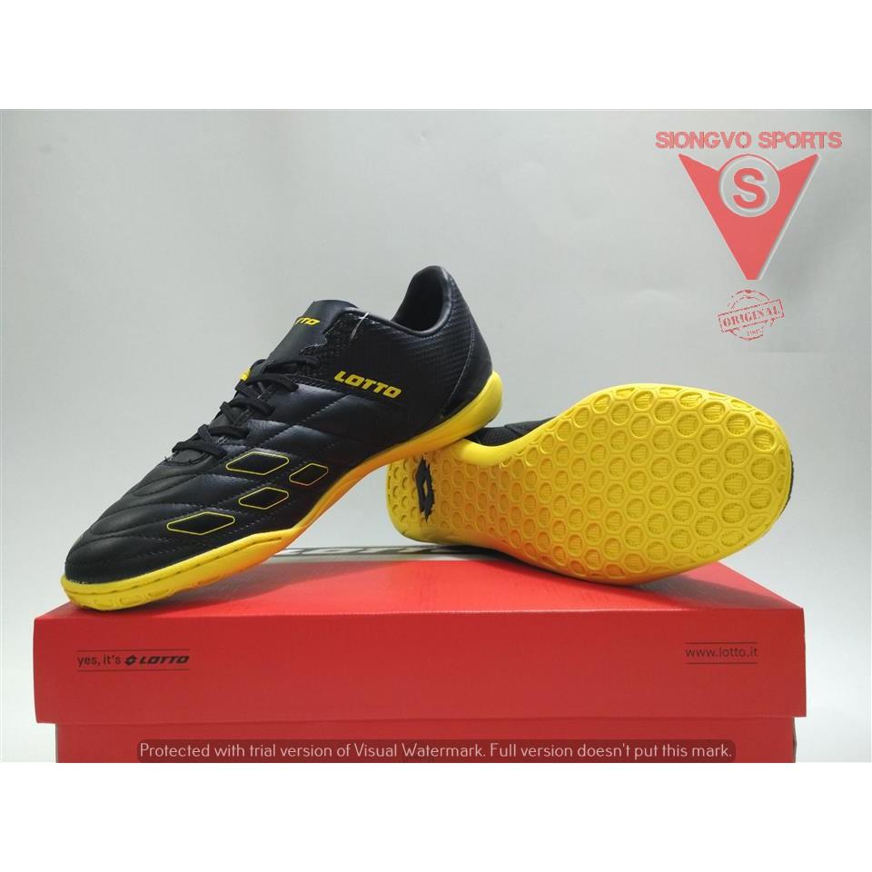 Sepatu Futsal Lotto Squadra IN Black Sunshine L01040010 Original BNIB  78ba1c3ee5