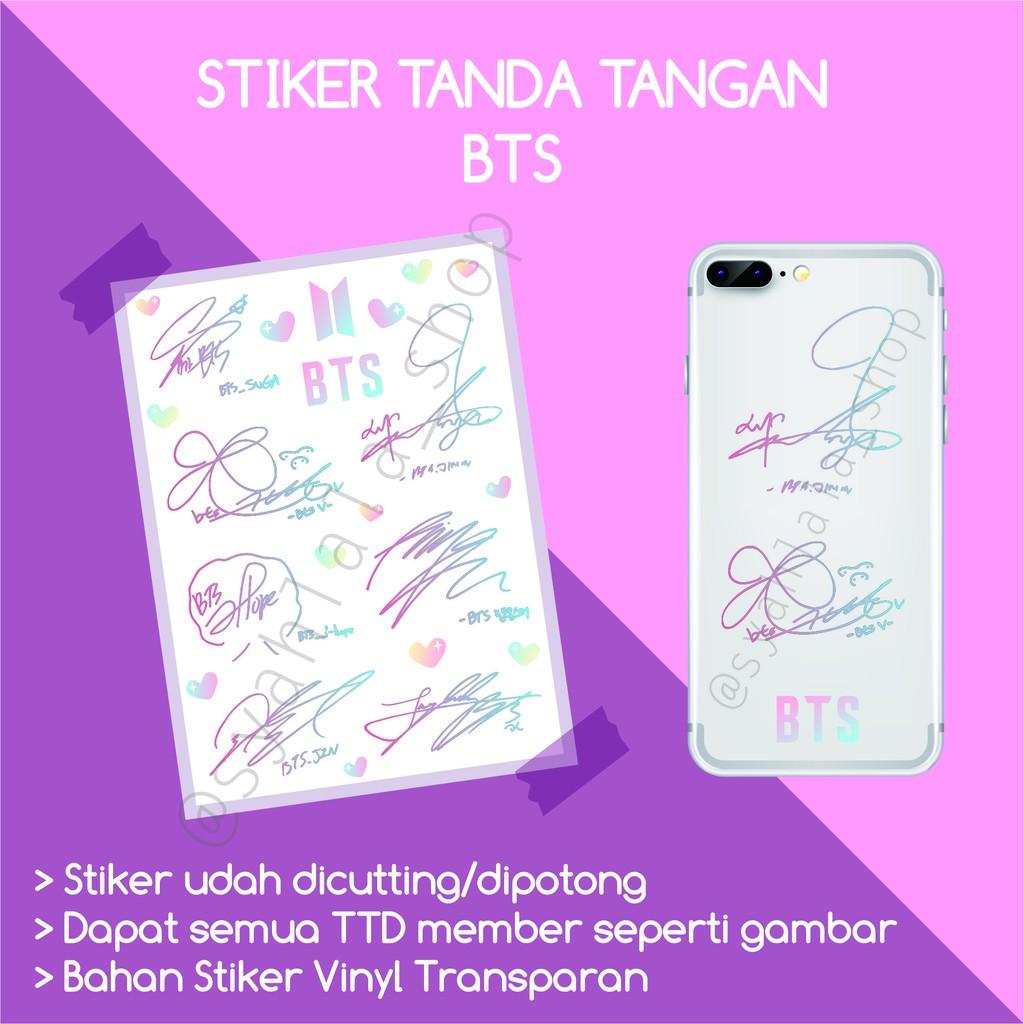 Stiker Tanda Tangan Bts Ttd Kpop Bts Shopee Indonesia