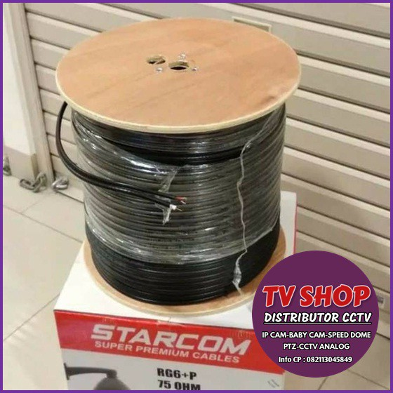 Kabel Coaxial RG 6 1 Roll Starcom / Kabel CCTV