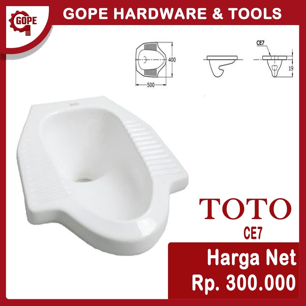 Kloset Jongkok Toto Ce 7 Putih Shopee Indonesia Harga closet jongkok toto