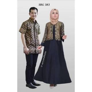 PO SUPER JUMBO Couple batik sarimbit gamis bigsize baju pasangan sepasang  seragam SRG 383 8facd3792d