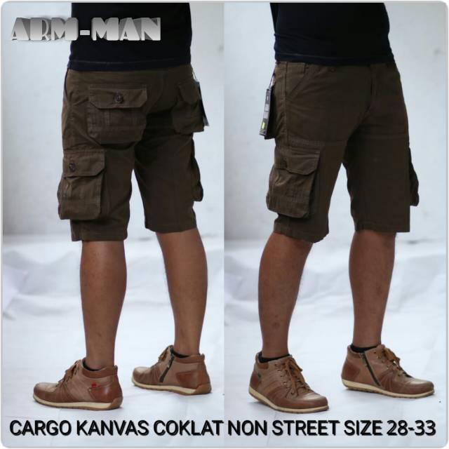 Cargo Pendek Thrasher Pria Warna Moca Bahan Canvas Premium Gaya Modis Casual Trendy Kekinian   Shopee