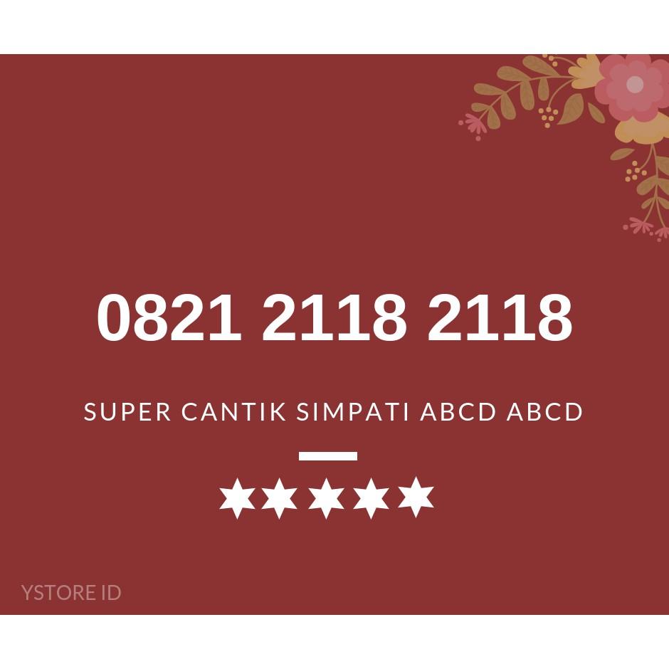 NOMOR CANTIK SIMPATI ABCD ABCD KARTU PERDANA TELKOMSEL 4G NOMER SERI 0821 2118 2118 | Shopee