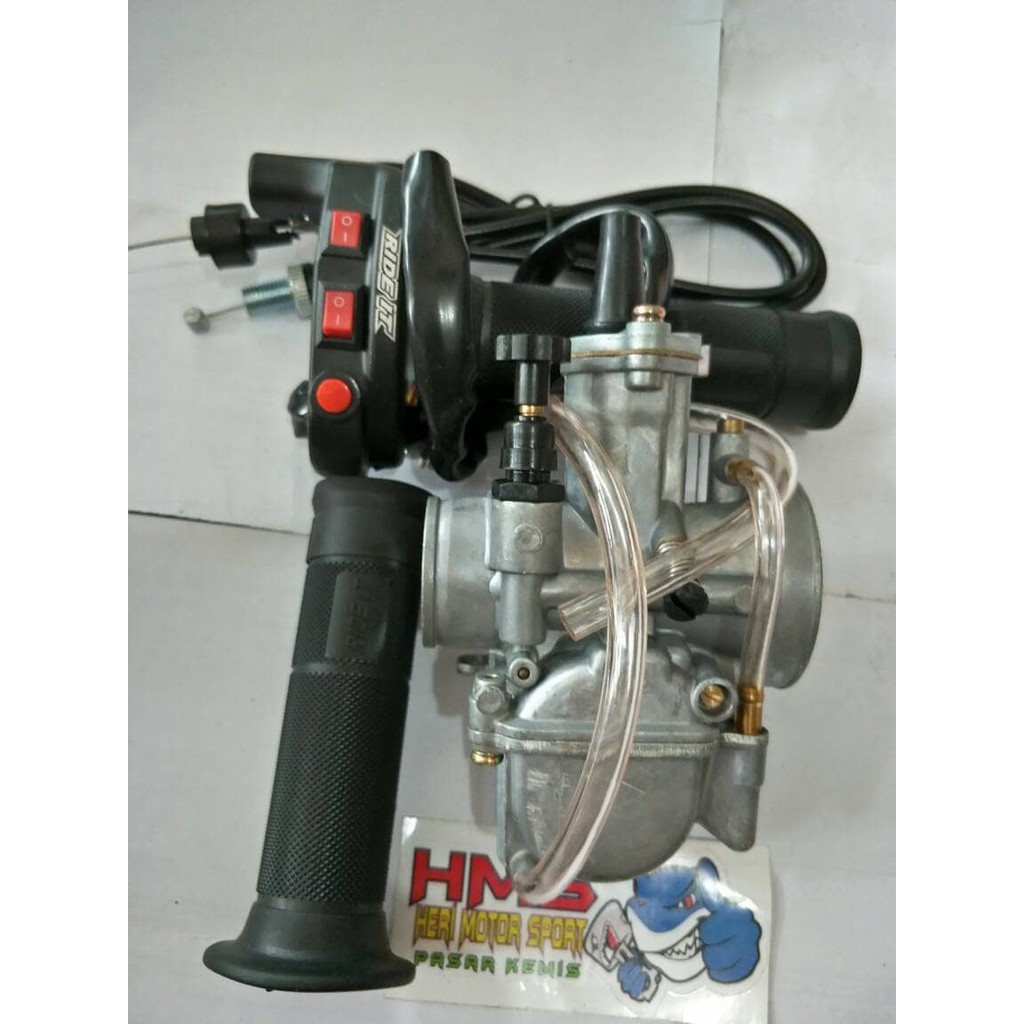 Paket Murah Karburator Pwk 28 Keihin Plus Gas Spontan Rideit Tombol Bungbon Polos Bebek Shopee Indonesia