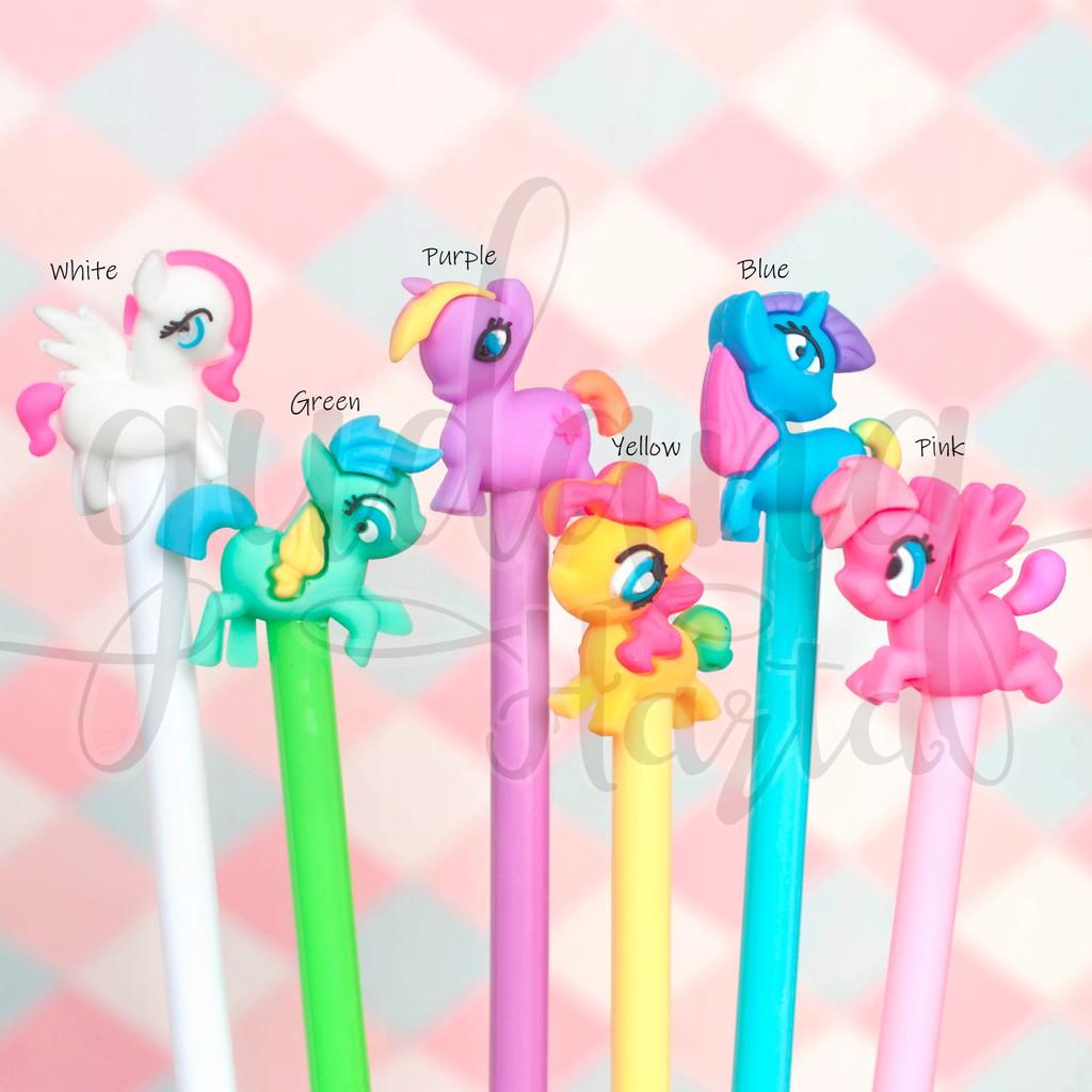 Pulpen Gel My Little Pony Unicorn Lucu Kuda Poni Pena Bolpen Pulpen Gh 307305 Shopee Indonesia