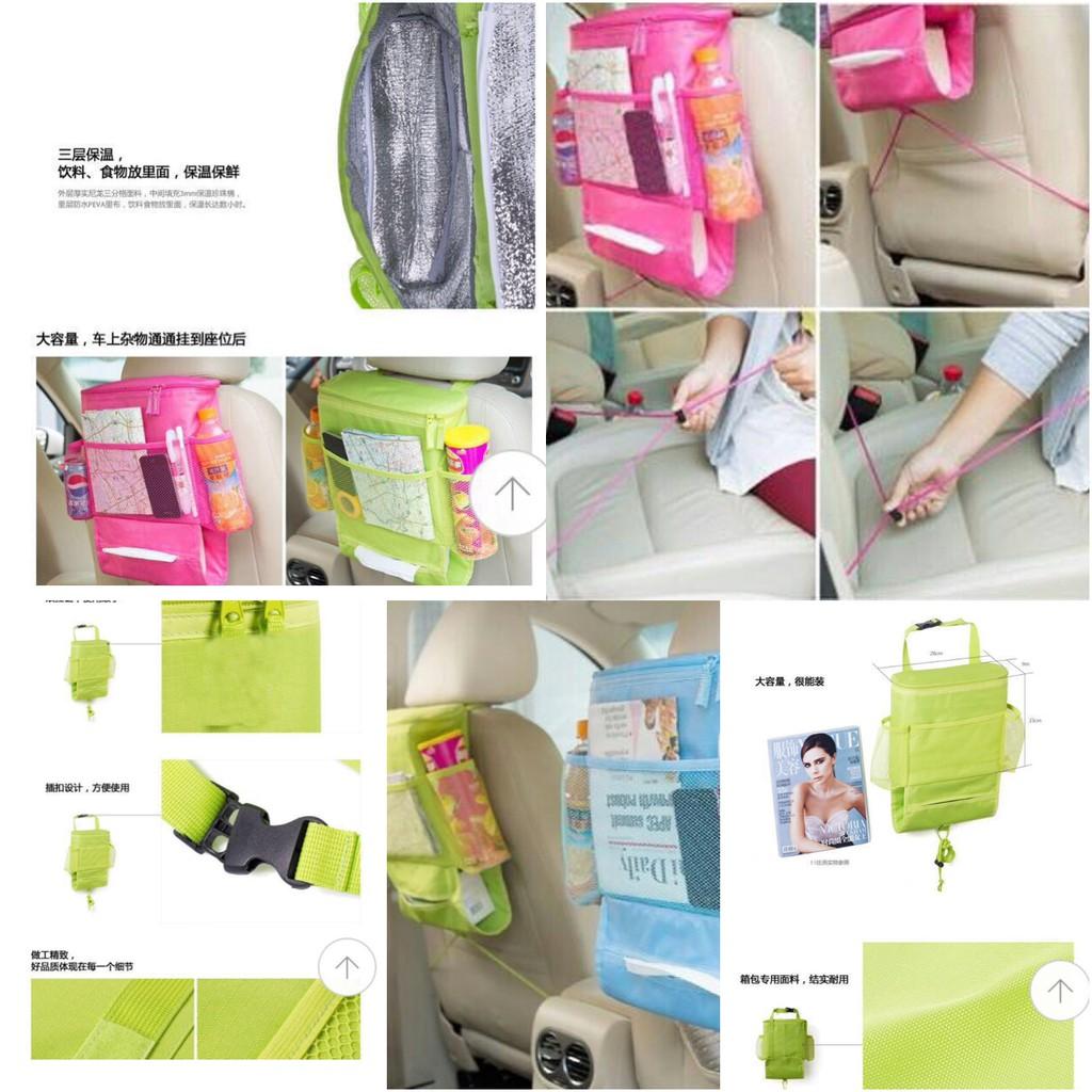 Rak Gantung Mobil Car Seat Organizer Dengan Sekat Penahan Panas Bag Original Tas Atau Dingin Shopee Indonesia