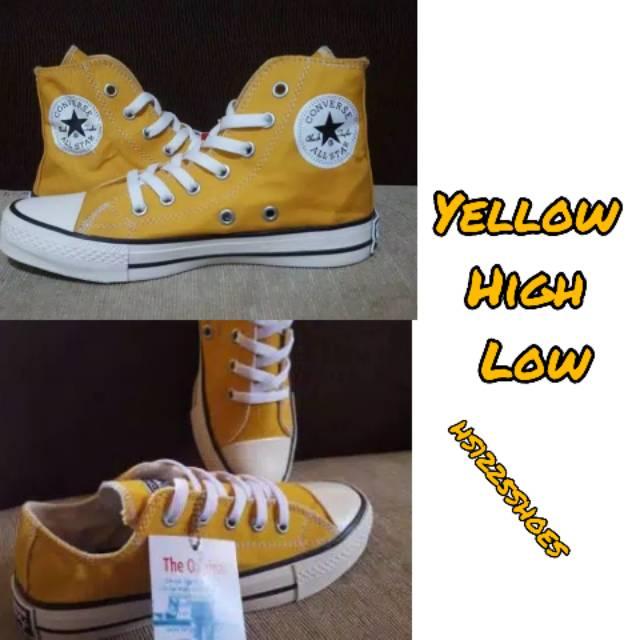 Sepatu Converse Allstar Kuning Sepatu Low Pendek Dan High