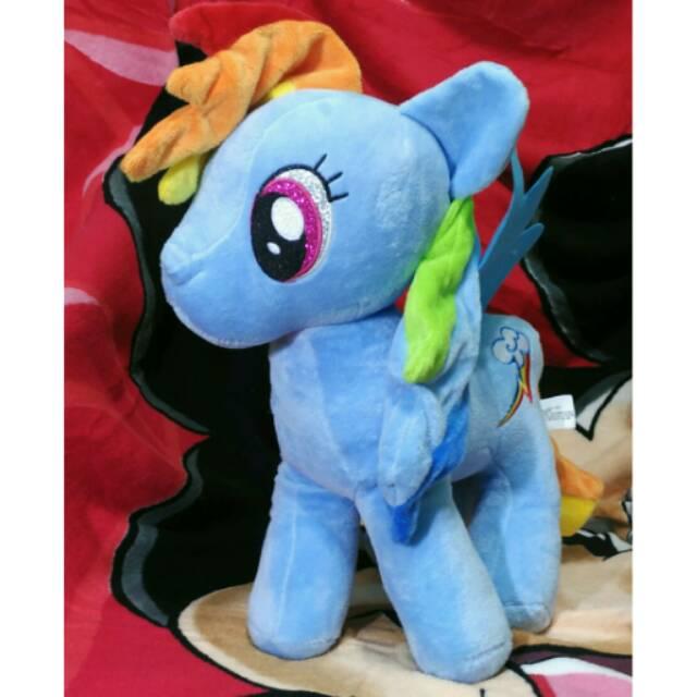 Boneka Rainbow Dash My Little Pony Uk Xl Shopee Indonesia