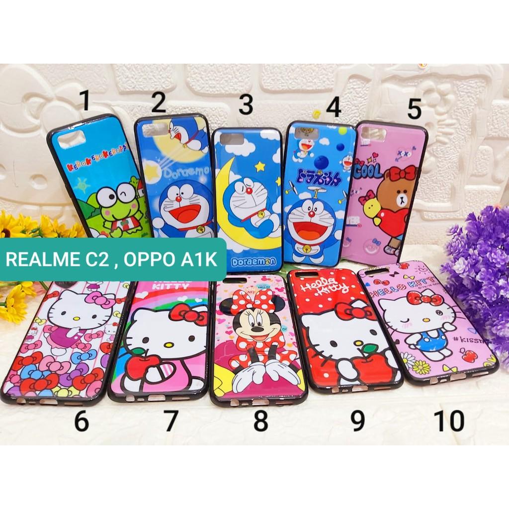 Softcase Doraemon Oppo A1K / Realme C2 New Casing RealmeC2 Oppo a1k Keroppi Hello Kitty Mickey Minni