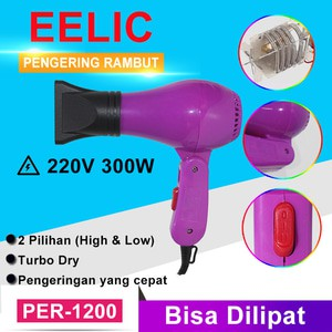 EELIC PER-W2200 Alat Pengering Rambut Profesional Hair Dryer Daya 2200WATT Dengan  Diffuser Alat Ikal 3890526609