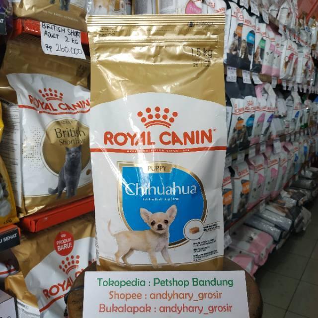 Royal Canin Chihuahua Puppy 1 5 Kg Dry Dog Food Rc Makanan Anak Anjing Chiwawa Junior 1 5kg Shopee Indonesia