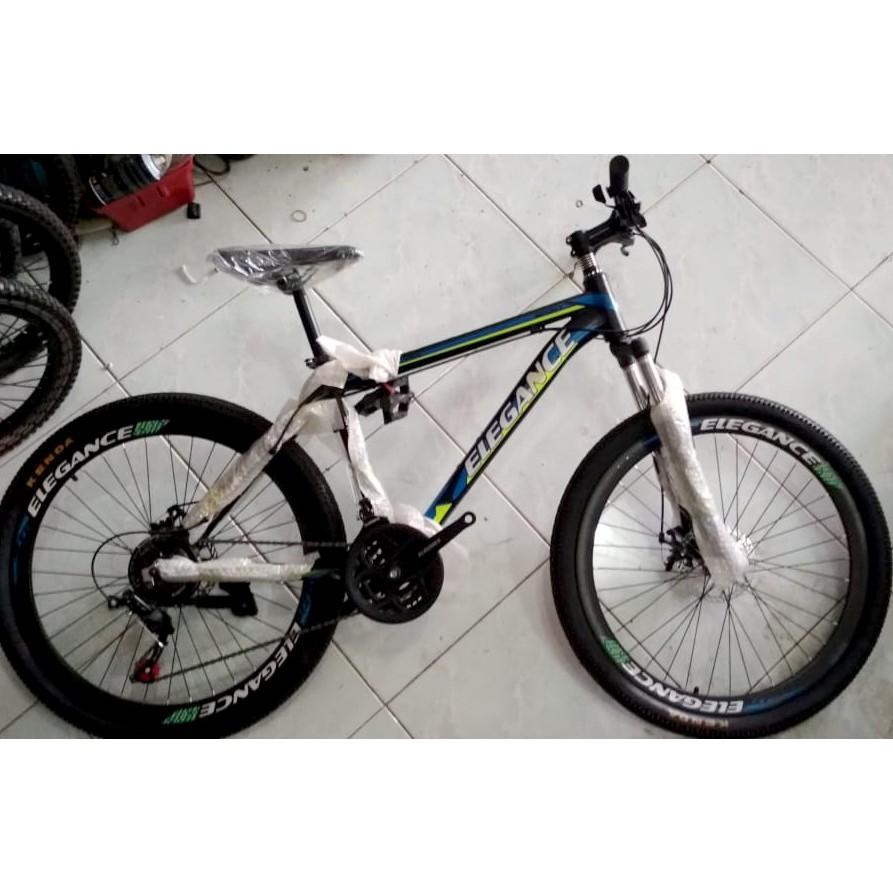 Sepeda Gunung Mtb Elegance Allumunium 6061 21 Speed Sepeda Gunung 26 Shopee Indonesia
