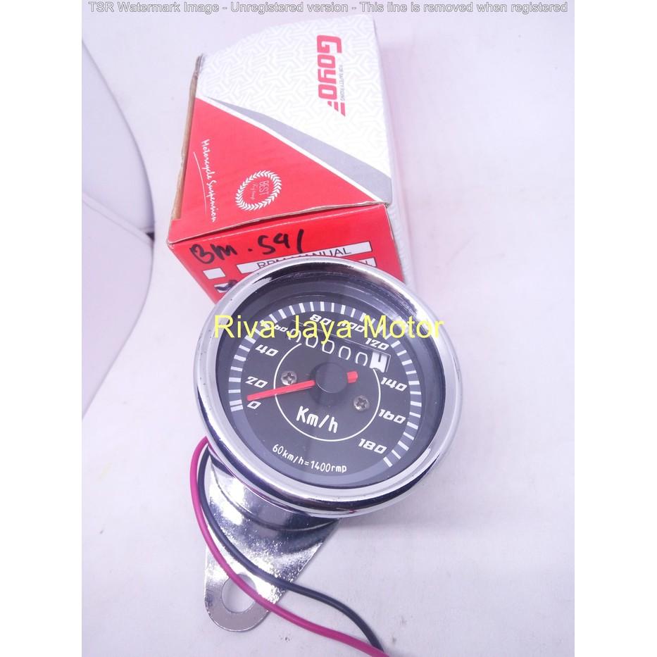Speedometer Kilometer Km Bulat Jarum Analog Variasi Universal Manual Fuel Meter Shopee Indonesia