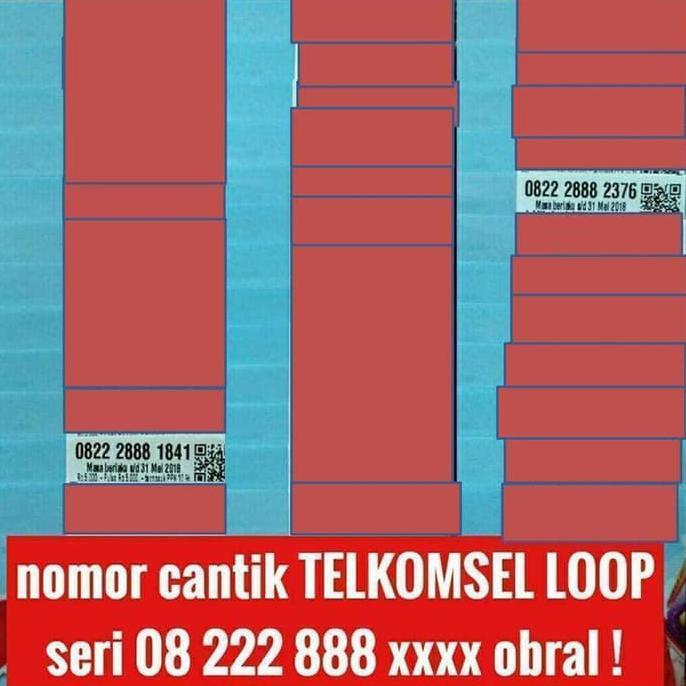 nomer cantik telkomsel loop seri tahun kartu perdana rapih harga obral   Shopee Indonesia