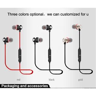 Wireless Bluetooth Sport Stereo Earphone Headset In-Ear Earbuds Noise Reduction.