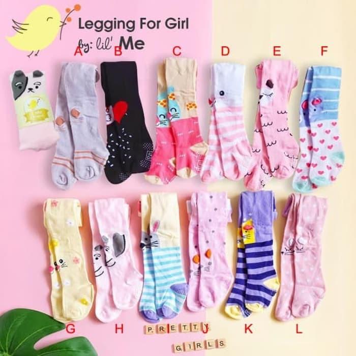 Celana Legging Bayi Perempuan Motif 3d Leging Anti Slip Lil Me A009 Shopee Indonesia