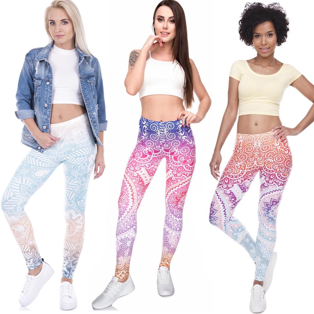 Celana Legging Motif Print Untuk Yoga Lari Shopee Indonesia
