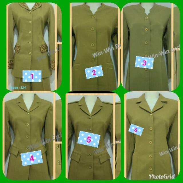 Setelan baju dinas wanita pns blazer pemda dan ibu hamil