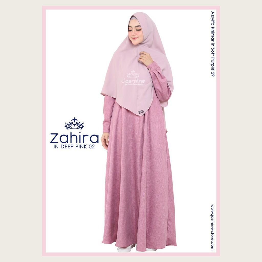 Gamis Jasmine Zahira Dress 02 Shopee Indonesia