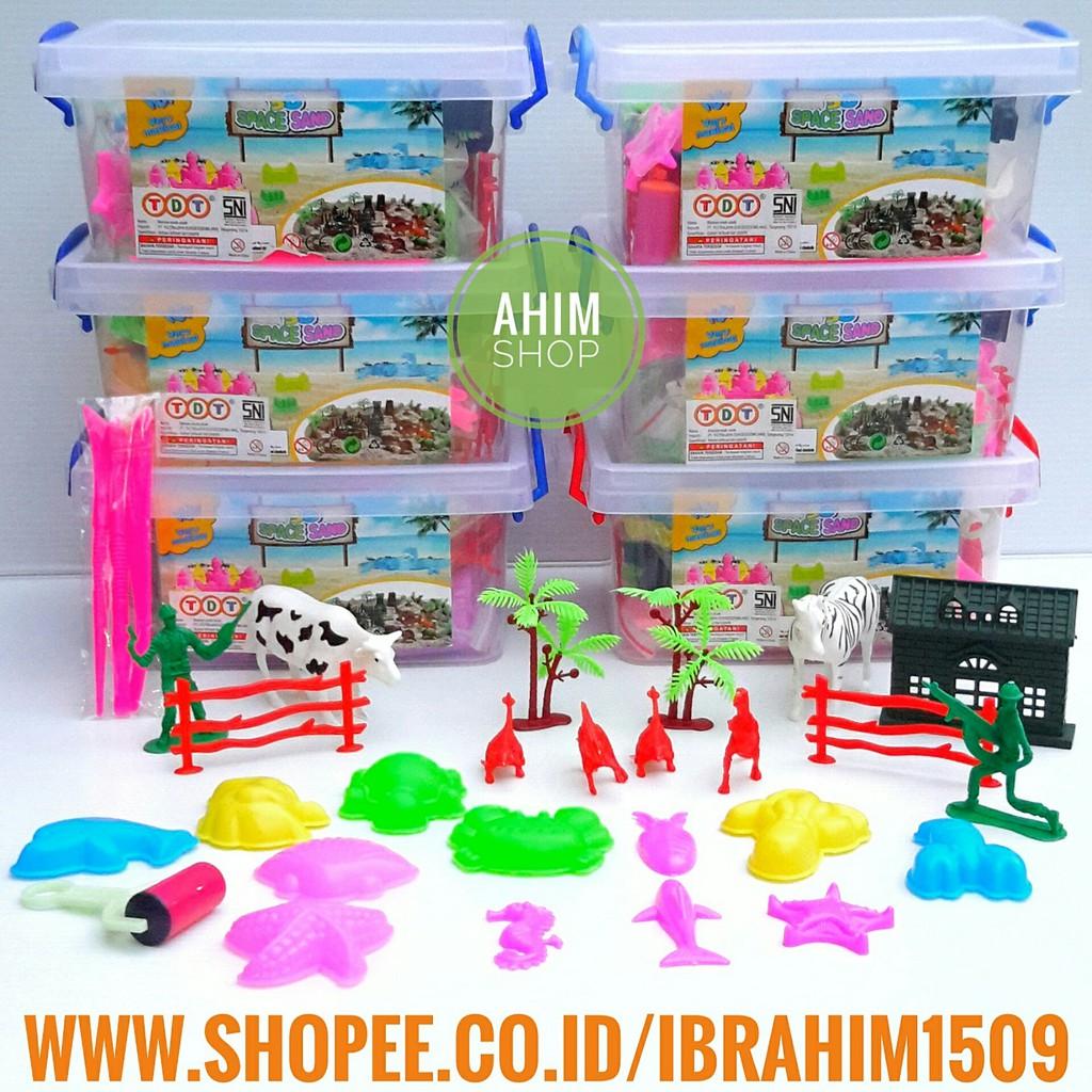 Pasir Kinetik Magic Sand Toples Container 500 Gram Shopee Indonesia Refil  Isi 3