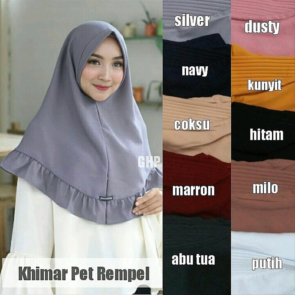 Pet Rempel Antem Hijab Jilbab Khimar Instant Bergo Kerudung Segiempat Shopee Indonesia