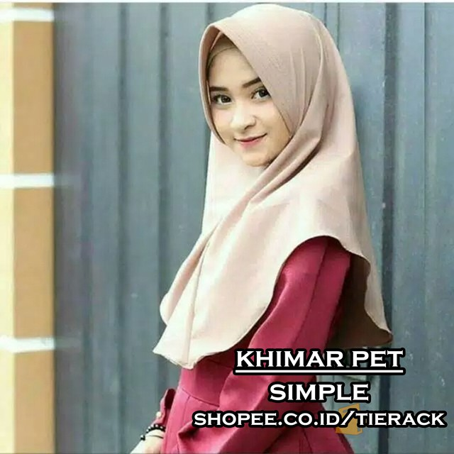 Khimar Pet Simple Jilbab Instan Kerudung Simple Wolfis Antem Shopee Indonesia