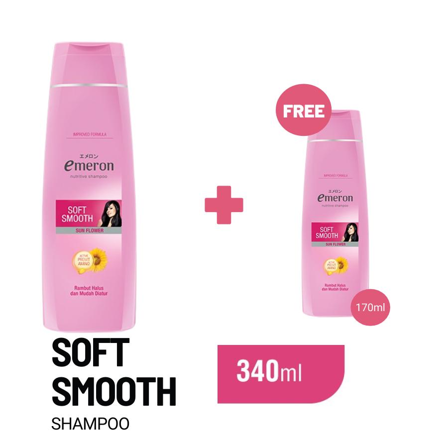 Emeron Shampoo Soft Smooth Botol 340ml