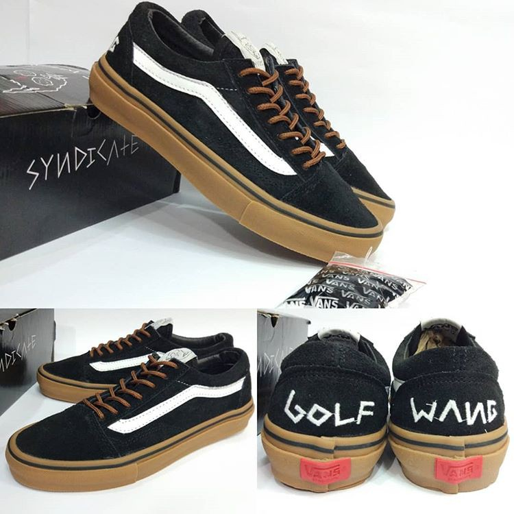 5a9c75687e Vans Old Skool Pro  S  X Golf Wang Black Gum