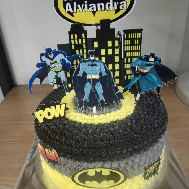 Surprising Tart Karakter Kue Ulang Tahun Birthday Cake Batman Shopee Birthday Cards Printable Opercafe Filternl