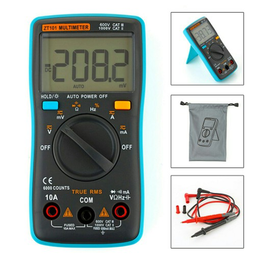 RM100 True RMS Multifunctional LCD Digital Multimeter XP-T-12032 | Shopee Indonesia