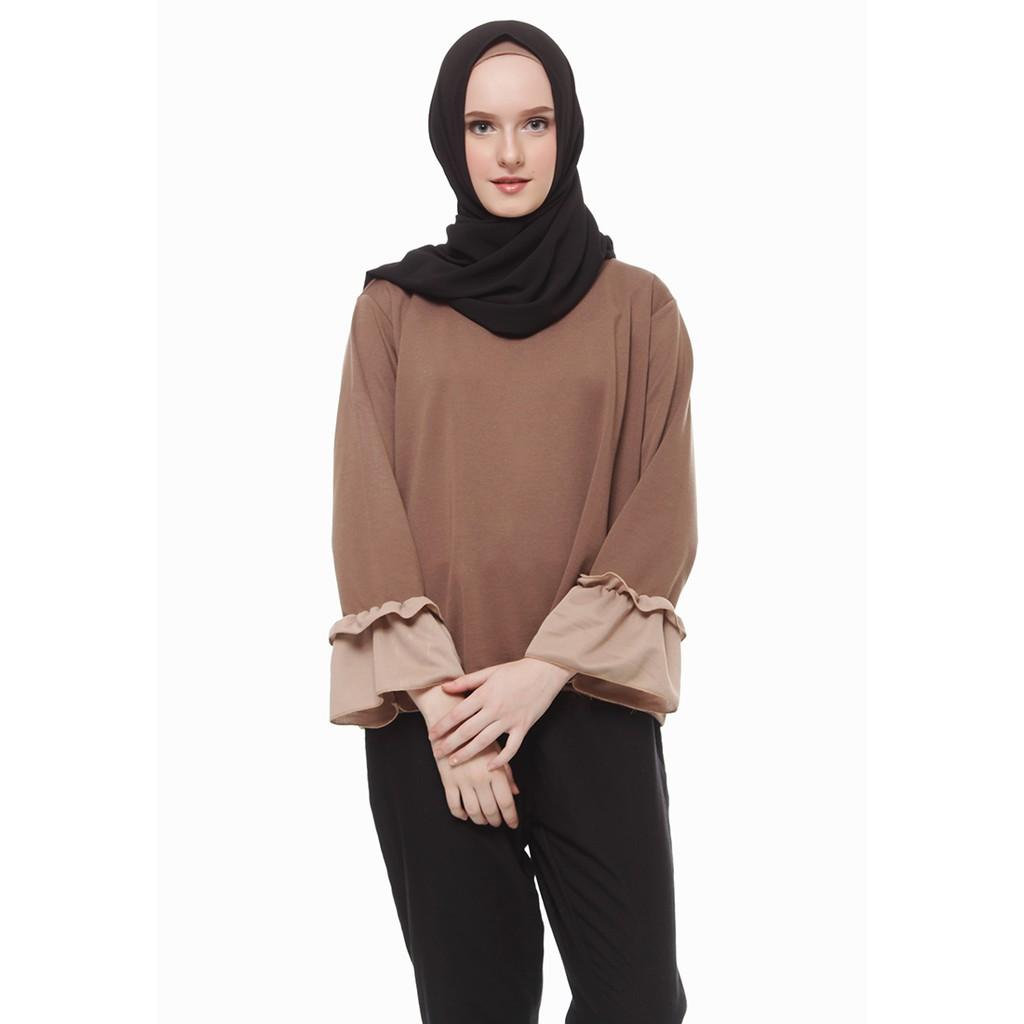 Baju Muslim Kiara Buble Crepe Pashmina Broken White M8650 R1S6 ... 5520593eb0
