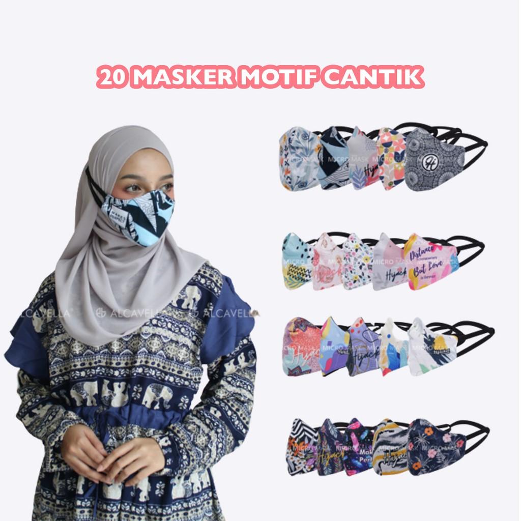 Micro Mask Hijacket Masker Kain Hijab Tali Karet Masker ...