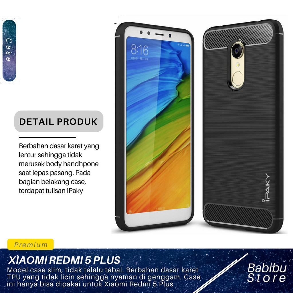 Case Xiaomi Redmi Note 3 Ipaky Carbon Soft Series Shopee Indonesia 5 Pro Cover Karbon Premium Casing Softcace Silikon