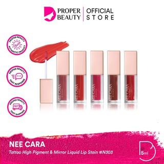 NEE CARA Tattoo High Pigment & Mirror Liquid Lip Stain N303 Thailand Lipstick Tint Matte Creamy thumbnail