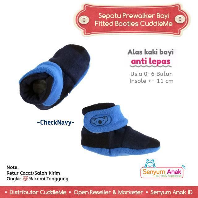 Sepatu Bayi Booties Cuddle Me Check Navy Prewalker Murah 8af9a7f9eb