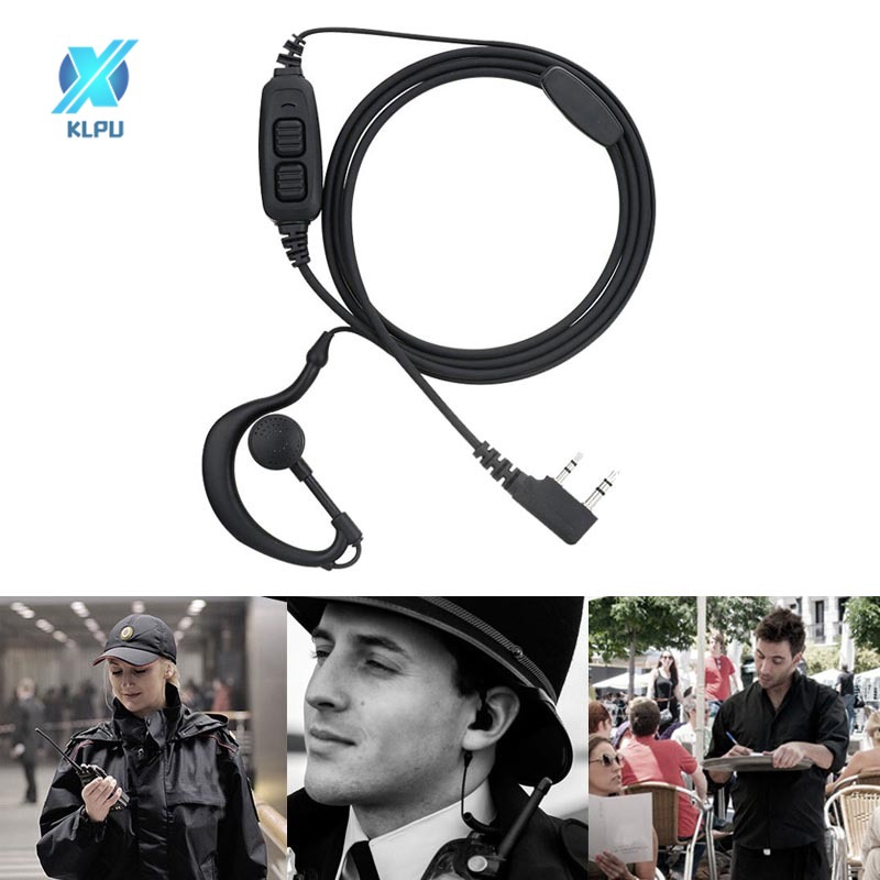 Dual Push To Talk PTT Earpiece Headset For Baofeng UV82 UV-5R series BF-888s
