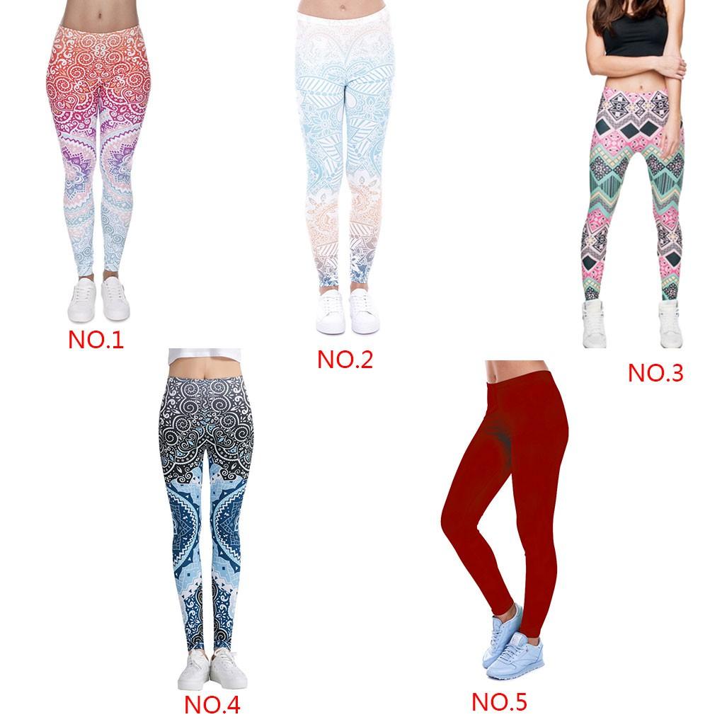 Celana Legging Motif Bunga Untuk Yoga Gym Fitness Shopee Indonesia
