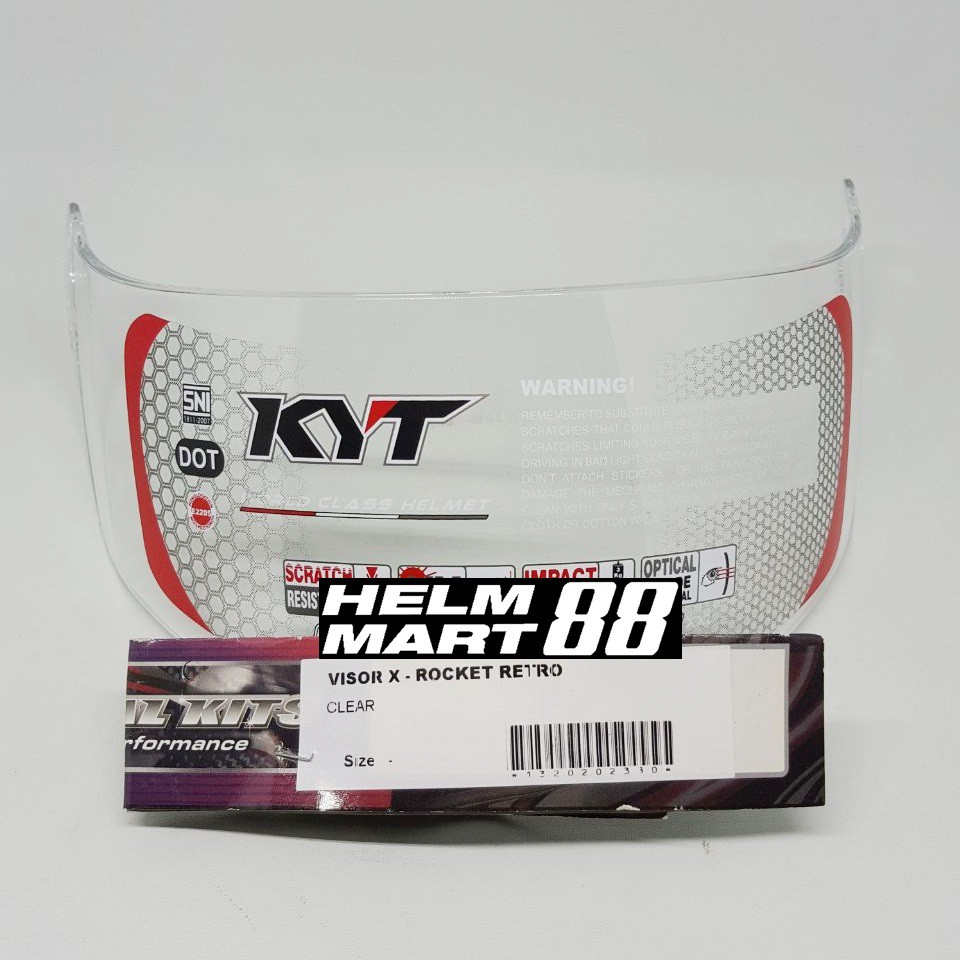 Visor Kyt Vendetta 2 Clear Light Dark Smoke Kaca Helm Non Flat Njs Shadow Original Shopee Indonesia