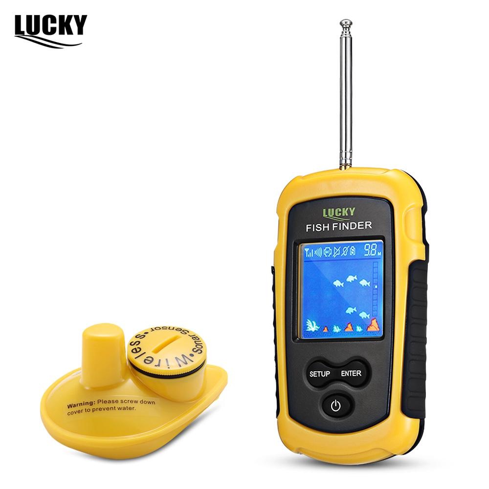120m Fish Finder Fishfinder Sonar Sensor Transducer Echo Sounder Alarm Detector