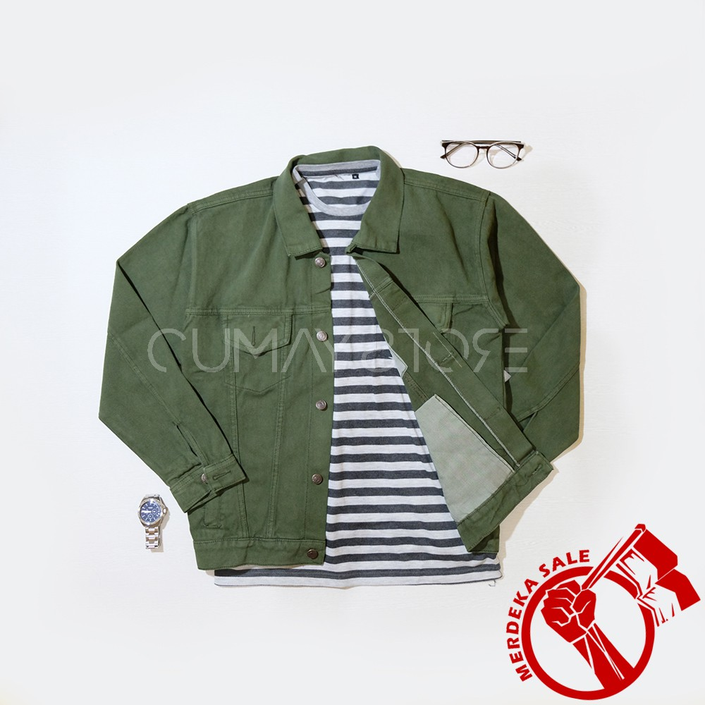 Jaket Pria Jeans Original Rocafela Bike Karlit Bioblitzbiowash Baseball Fleece Button Shopee Indonesia