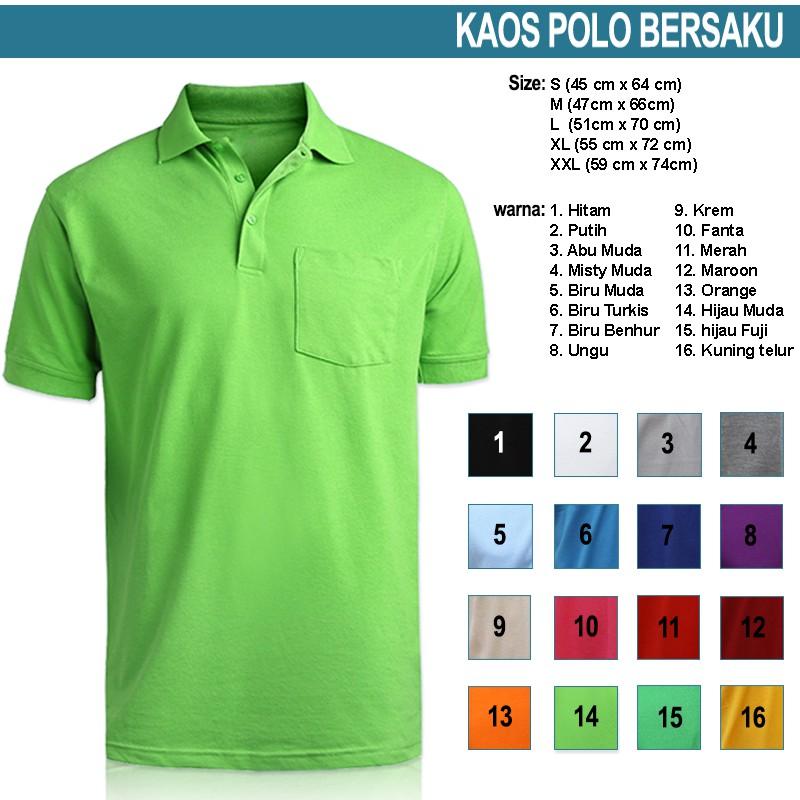 Kaos Polo shirt berkantong   bersaku , bahan Lacoste Pique (PE)   Shopee  Indonesia 0c836df069