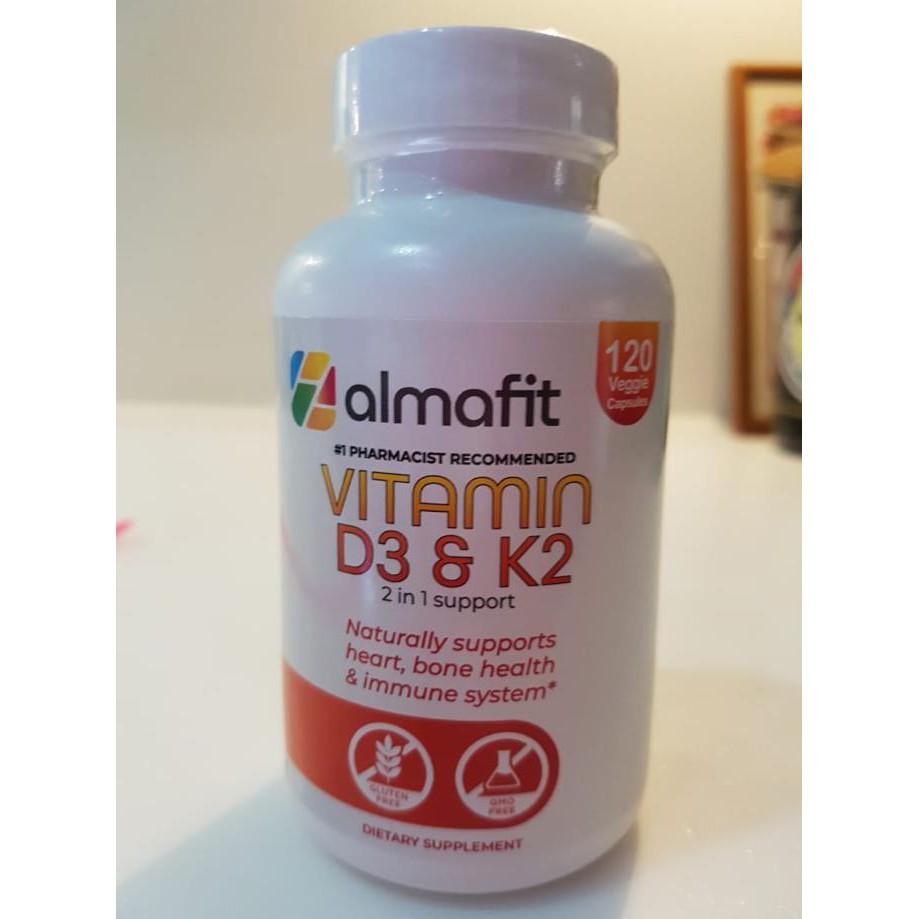 Almafit Vitamin D3 5000 Iu + K2 90 Mcg - Jantung Tulang Imunitas Sehat Terlaris
