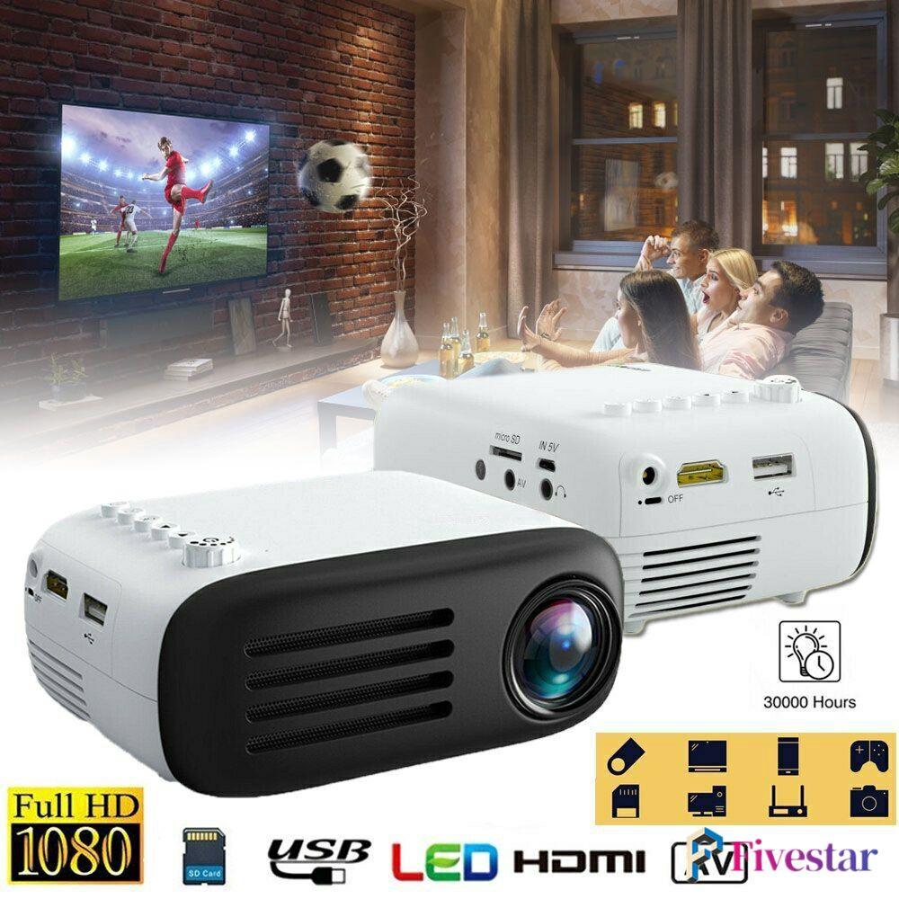 Fheal 7000 Lumens Full Hd 1080p Mini Led Proyektor Home Theater Cinema Usb Hdmi Av Shopee Indonesia