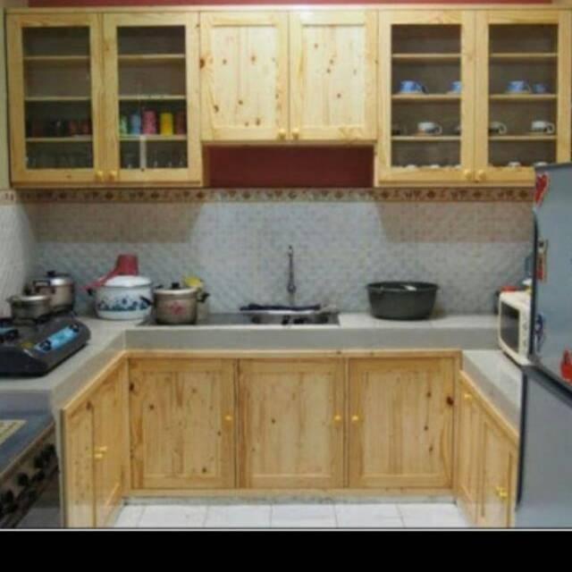 Kitchen Set Jati Belanda Shopee Indonesia