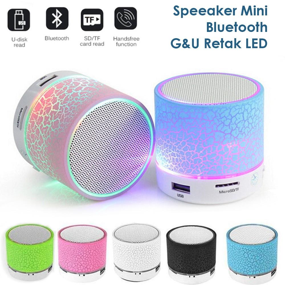Speaker Bluetooth Mini Portable De022 Shopee Indonesia Robot Rb430 30 Square Hifi Black De032