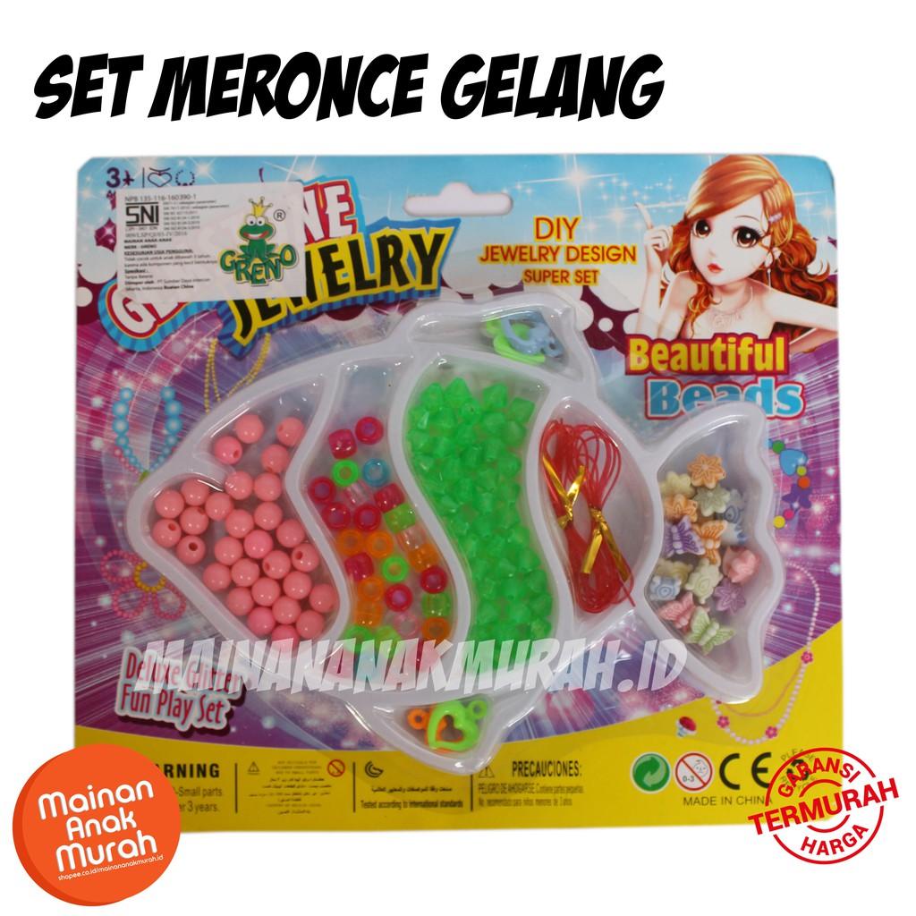 Mainan Set Meronce Gelang   Mainan Meronce Manik Manik DIY Anak Gelang  Kalung  cd38369317