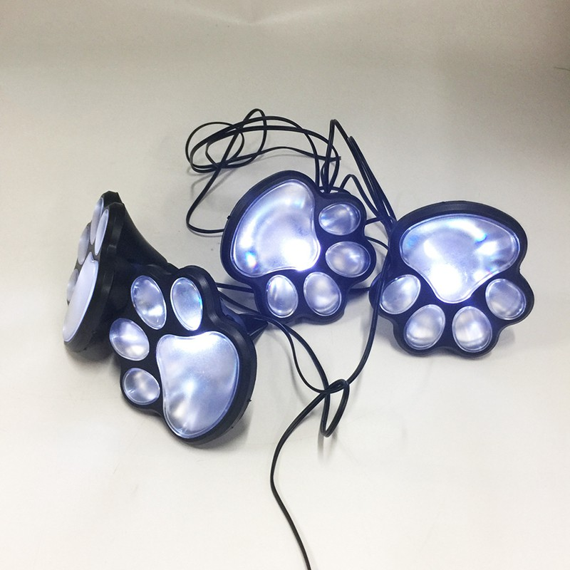 4x Solar Dog Cat Animal Paw Print Lights LED Garden Outdoor Path Decor Lamps Hot